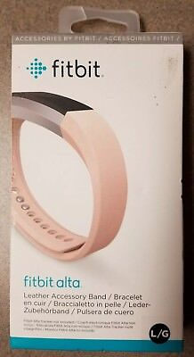 AU12.87 • Buy Fitbit Alta, Accessory Band, Leather, Blush, Pink, Large