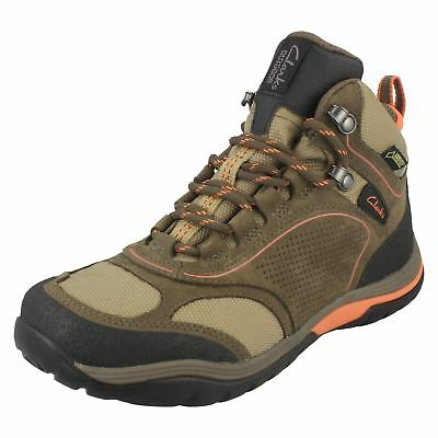 Ladies Clarks Intour Route Gtx Nubuck Lace Up Waterproof Leather Walking Boots  • 69.99£