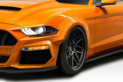 $ CDN889.02 • Buy Duraflex Grid Wide Body Front Fender Flares 4 Piece For Mustang Ford 18-19