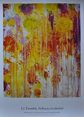 £312.07 • Buy Cy Twombly Flowers   Untitled  Abstract Art Original Large Poster MINT