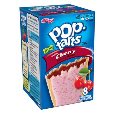 Kelloggs Pop Tarts Frosted Cherry - American Import - Box Of 8 • 6.95£