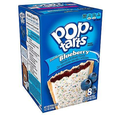 Kelloggs Pop Tarts Frosted Blueberry - Rare American Import - Box Of 8 • 6.75£