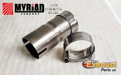 £9.99 • Buy Exhaust Reducer - Sleeve Joiner Stainless Steel T Clamps - Repair Tube Section