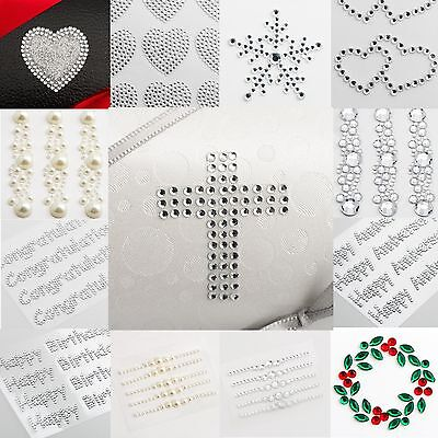 Self Adhesive Embellishment Rhinestone Diamante Gem Crystal Stick On Sheet Craft • 2.49£