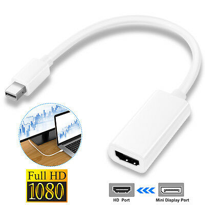 $7.34 • Buy 1080P Mini Display Port DP To HDMI HD TV Cable Adapter For Pro MacBook Apple Mac