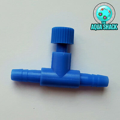 Air Line Regulator Control Valve For Air Pump - Aquarium 4mm 6mm Fish Pond Tank • 2.79£