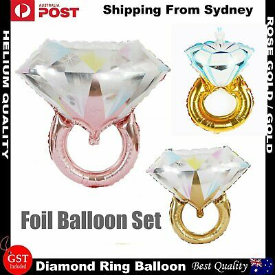 AU3.69 • Buy Diamond Ring Foil Balloons Helium Wedding Engagement Bridal Party Balloon Decor