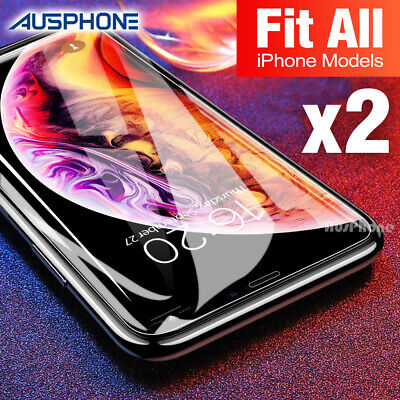 AU3.69 • Buy Tempered Glass Screen Protector For Apple IPhone 12 11 Pro XS Max XR 8 7 6S Plus