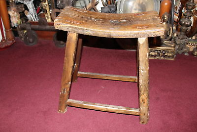$219.99 • Buy Antique Country Farm Barn Stool Cow Milking Bench Aged Patina Country Decor