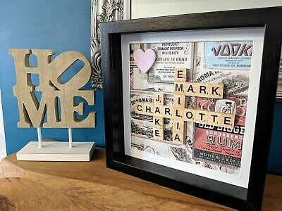 Vintage Drink - Scrabble Personalised Picture Frame • 21.49£