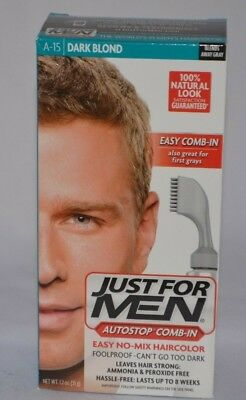 £5.12 • Buy Just For Men Autostop Comb - In Easy No Mix Haircolor Dark Blond A-15  New