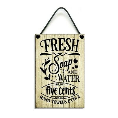 Laundry Room Sign Fresh Soap And Water Handmade Wooden Plaque 889 • 6.99£