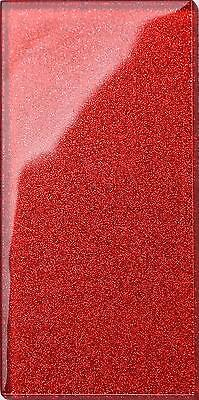 Glitter Red Glass Bathroom Kitchen Splashback Subway Wall Tiles (MT0111) • 1.49£