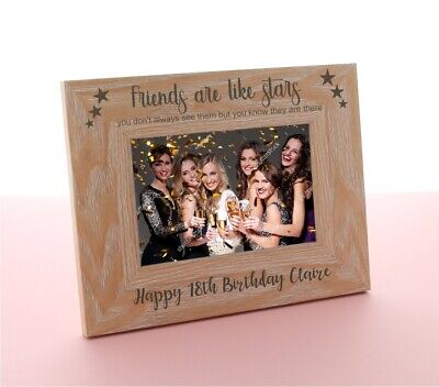 £9.98 • Buy Personalised Engraved Wooden Photo Frame Birthday Mum 18th 21st 30th 40th Gift