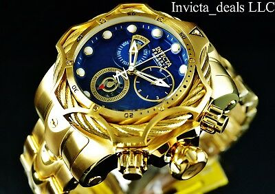 Invicta Reserve Mens 52mm Venom Bolt Swiss ETA Chronograph 18K Gold Plated  Watch • 239.99  f7d0ba03908
