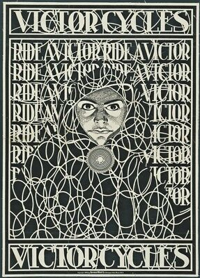 Victor Bicycles, France, 1898, Vintage Classic Art Nouveau Cycling Poster • 6.99£
