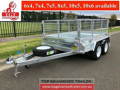 AU3450 • Buy 8x5 Tandem Trailer Galvanised Heavy- Duty, Fully Welded 2t ATM 600mm Cage.