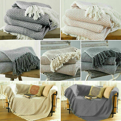 £9.99 • Buy Large & XL Cotton Traditional Como Safi Blanket Home Chair / Sofa / Bed Throws
