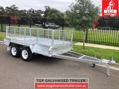 AU3160 • Buy 10x5 Tandem Trailer Galvanised With 600mm Cage 2000kg ATM Heavy Duty Trailer New