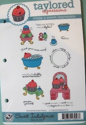Taylored Expressions SWEET INDULGENCE Rubber Stamp Set • 5.99$
