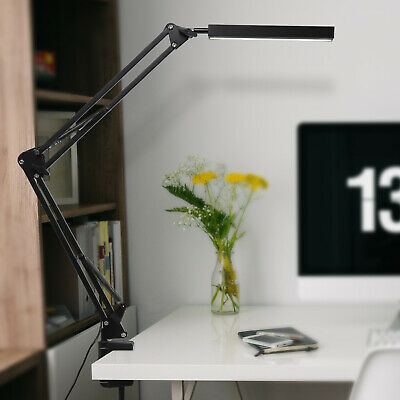 £9.99 • Buy Desk Lamp With Clamp Eye-Care LED Table Desktop Light Folding Swing Arm Dimmable