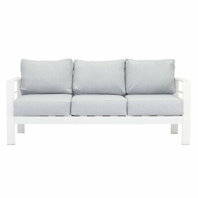 AU529.99 • Buy New White 3 Seater Aluminium Outdoor Sofa Lounge Setting Furniture Arms Chairs