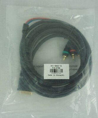 DVI-3RCA-12 - DVI TO 3 RCA 12FT Cable • 7.99$