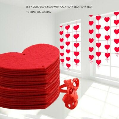 AU7.34 • Buy Hanging Red Heart String Valentines Day Decorations Engagement Wedding Party New