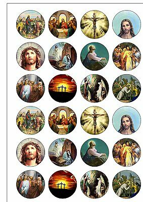 £1.99 • Buy 24 Precut Religious Christian Easter Edible Wafer Paper Cupcake Cake Toppers