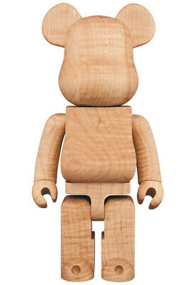 $2589 • Buy Medicom Toy BE@RBRICK KARIMOKU MAPLE 400% Wooden Bearbrick