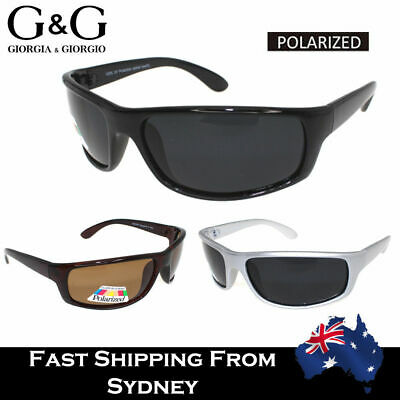 AU18.95 • Buy Mens Sunglasses Polarized Wrap Around Sports Running Cycling UV Protection