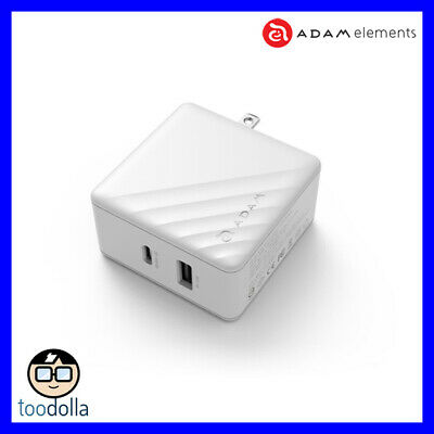 AU84.90 • Buy Adam Elements Omnia P5, USB-C And USB-A Wall Charger, MacBook And More, White