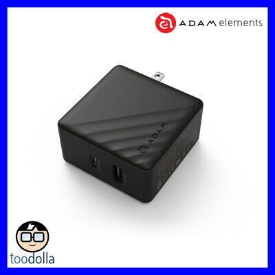 AU79.90 • Buy Adam Elements Omnia P5, USB-C And USB-A Wall Charger, MacBook And More, Black