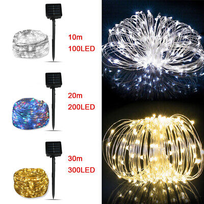 £8.72 • Buy 10/20M LED Solar String Lights Waterproof Copper Wire Fairy Outdoor Garden Party