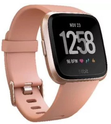 $ CDN362.90 • Buy Fitbit Versa Smart Fitness Watch Black Lavender Rose Gold Charcoal Smoke