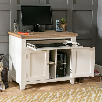 Cheshire Cream Painted Hideaway Computer Desk - Printer Cupboard - WW54 • 399£