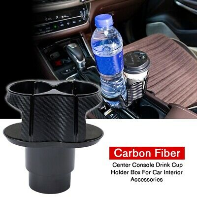 $ CDN12.66 • Buy ABS Carbon Fiber Center Console Drink Cup Holder Box For Car Interior Parts