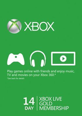 $4.60 • Buy Xbox Live Gold 14 Day Trial Membership Code, Xbox One, Genuine & Legal