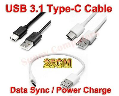 AU9.68 • Buy 2x USB Type-C Power Supply Charge Cable Data Lead For Samsung Galaxy S8 S9 Short