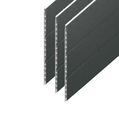 Hollow Cladding Soffit Board Anthracite Grey UPVC Plastic 300mm X 5m Length • 44.95£