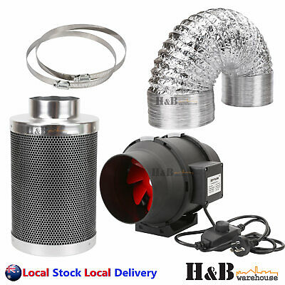 AU210 • Buy Ezyflow Hydroponics Grow Tent Inline Exhaust Fan 4  6  8   Filter Duct Fan Kit