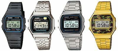 AU15.99 • Buy Casio Digital Watch Classic Vintage Retro Stainless Steel Rubber Band Alarm Stop