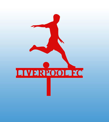 Personalised Football Cake Topper Acrylic Liverpool Manchester Your Name Or Club • 2.95£