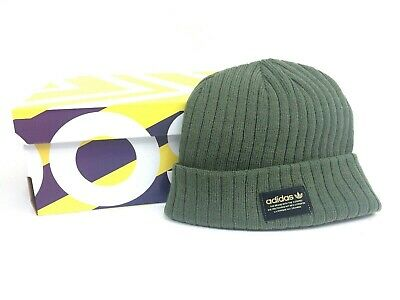 d0b7244608d Adidas Originals Trefoil Knit Puff Beanie Hat Army Green Gold - Adult  Unisex • 21.20