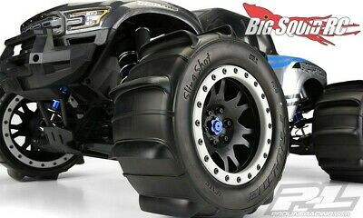 AU257.82 • Buy 4 PRO-LINE SLING SHOT Pro-Loc MOUNTED SAND PADDLE TIRES + WHEELS TRAXXAS X-MAXX