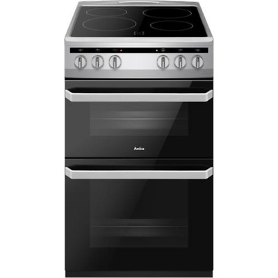 £320 • Buy Amica AFC5100SI Free Standing A/A Electric Cooker With Ceramic Hob 50cm Silver