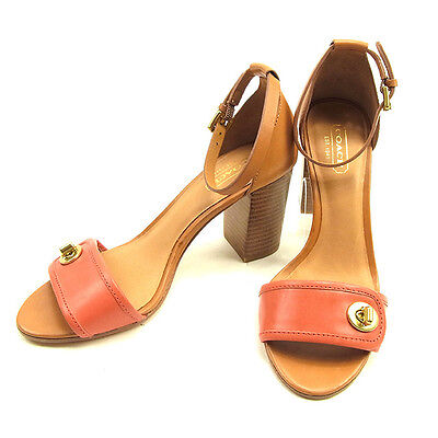AU442 • Buy Coach Flip Flops Pink Brown Woman Authentic Used Y7000