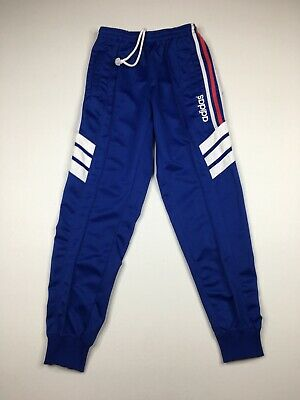 $ CDN59 • Buy Vintage Adidas Blue Pleated Front Track Pants Sz M