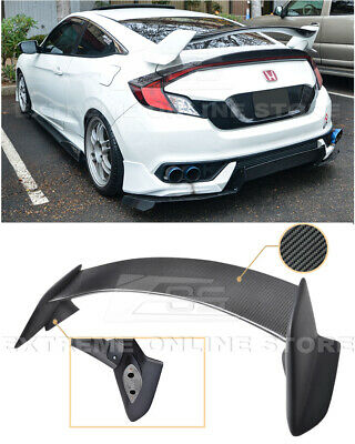 $229.99 • Buy Type R Style CARBON FIBER Rear Trunk Wing Spoiler For 16-Up Honda Civic Coupe