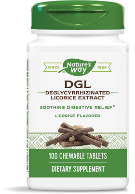Deglycyrrhizinated Licorice DGL Root Extract 100 Chewable Tabs | Soothes Gut • 17.65£